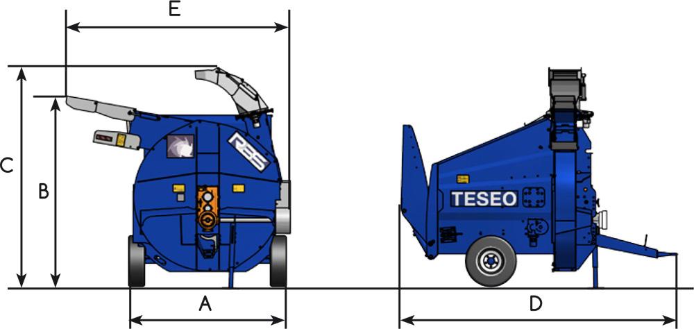 Размеры Teseo